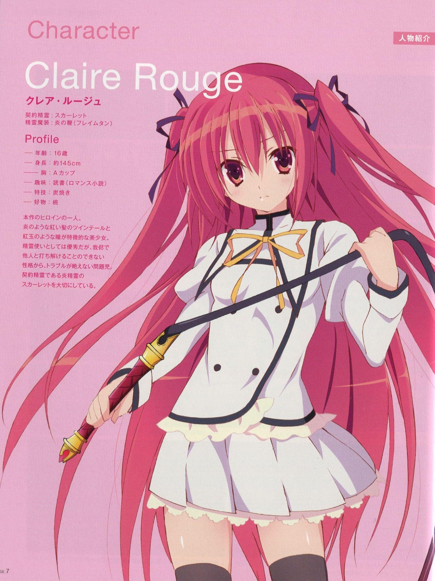 seirei tsukai no blade dance claire Claire Rouge