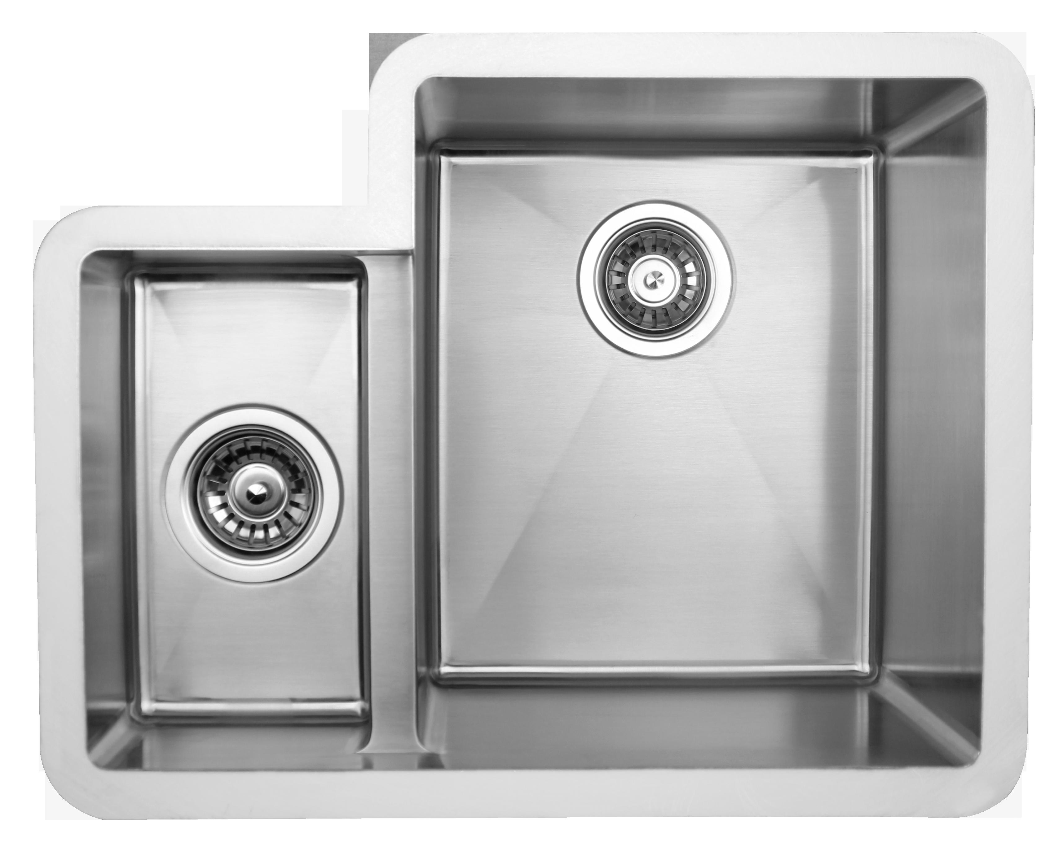 Edelstahl doppel Spüle für Küchen und Objektbau Stahl