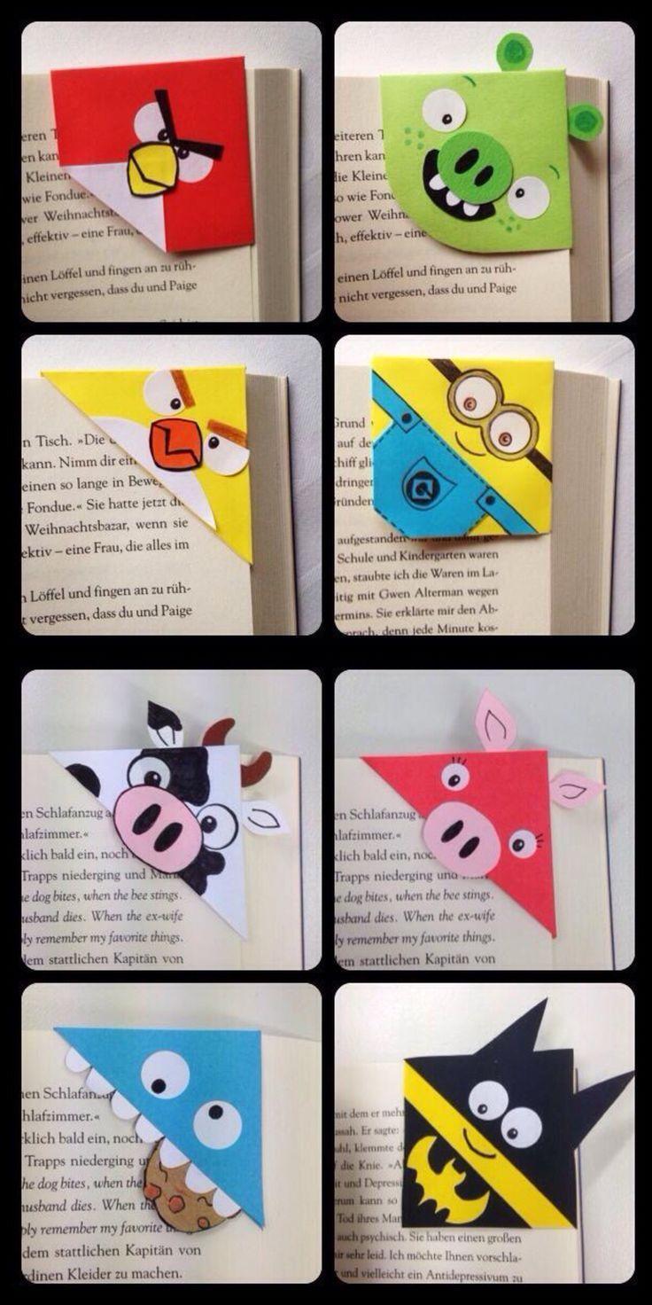 Super cute and quick corner bookmarks ...  #DiyPaperCrafts  Super cute and quickly made corner bookmarks – #EckLesezeichen #gemachte #origami #fast #SUPER