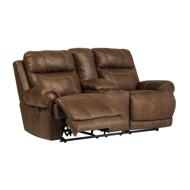 Get Your Austere   Brown   DBL Rec Loveseat W/Console At Watsonu0027s Home  Furniture, Muscle Shoals AL Furniture Store.
