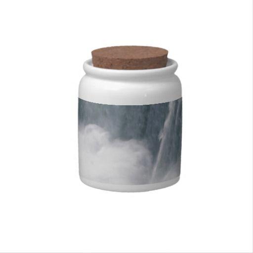 The Canadian Falls or Horseshoe Falls at Niagara Falls Candy Jar #gift #present #xmas
