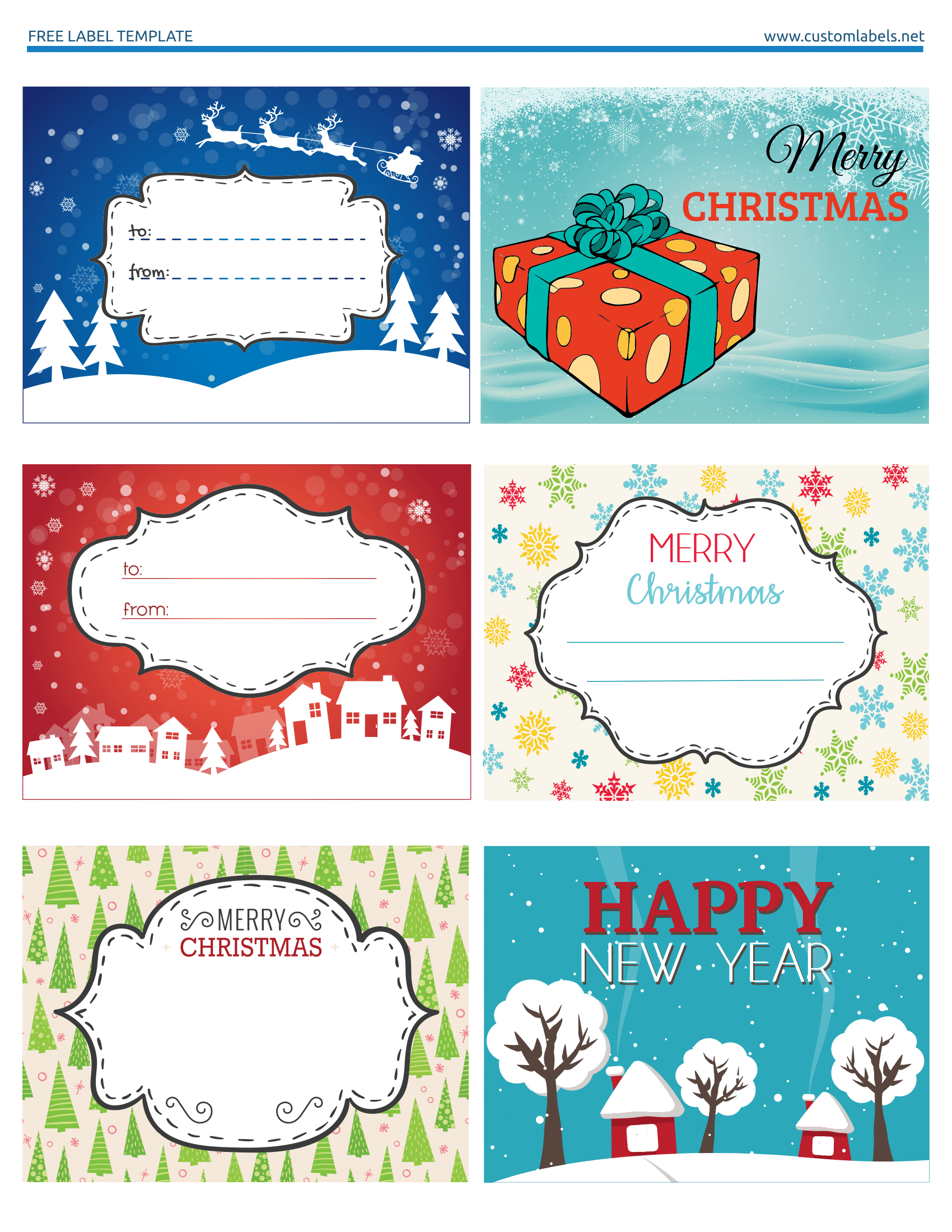 Fun and Colorful Christmas Labels - Free Printables ...