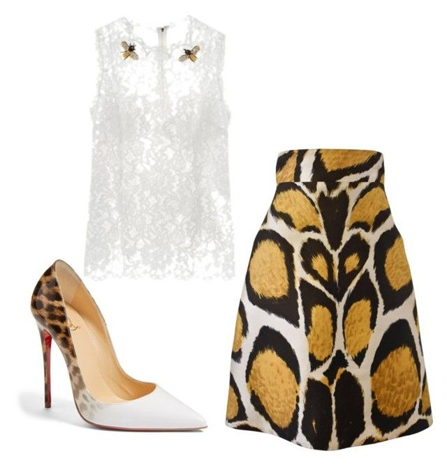 """الحلم السامي"" by enshi on Polyvore featuring interior, interiors, interior design, home, home decor, interior decorating, Giles, Christian Louboutin and Dolce&Gabbana"