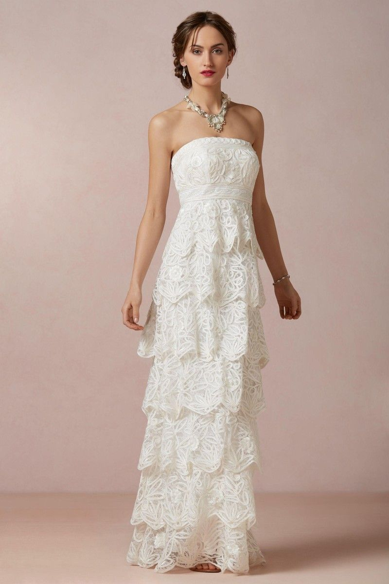 Casual wedding dresses with color  this is beautiful  casual wedding dresses  Pinterest  Ruffles