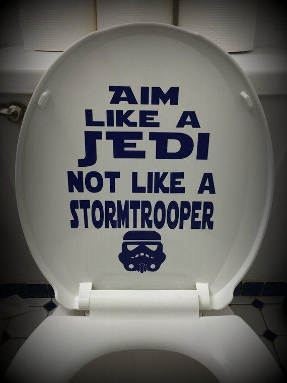 Star Bathroom Decor: Star Wars Bathroom Toilet Decal: Aim Like A Jedi In 2019