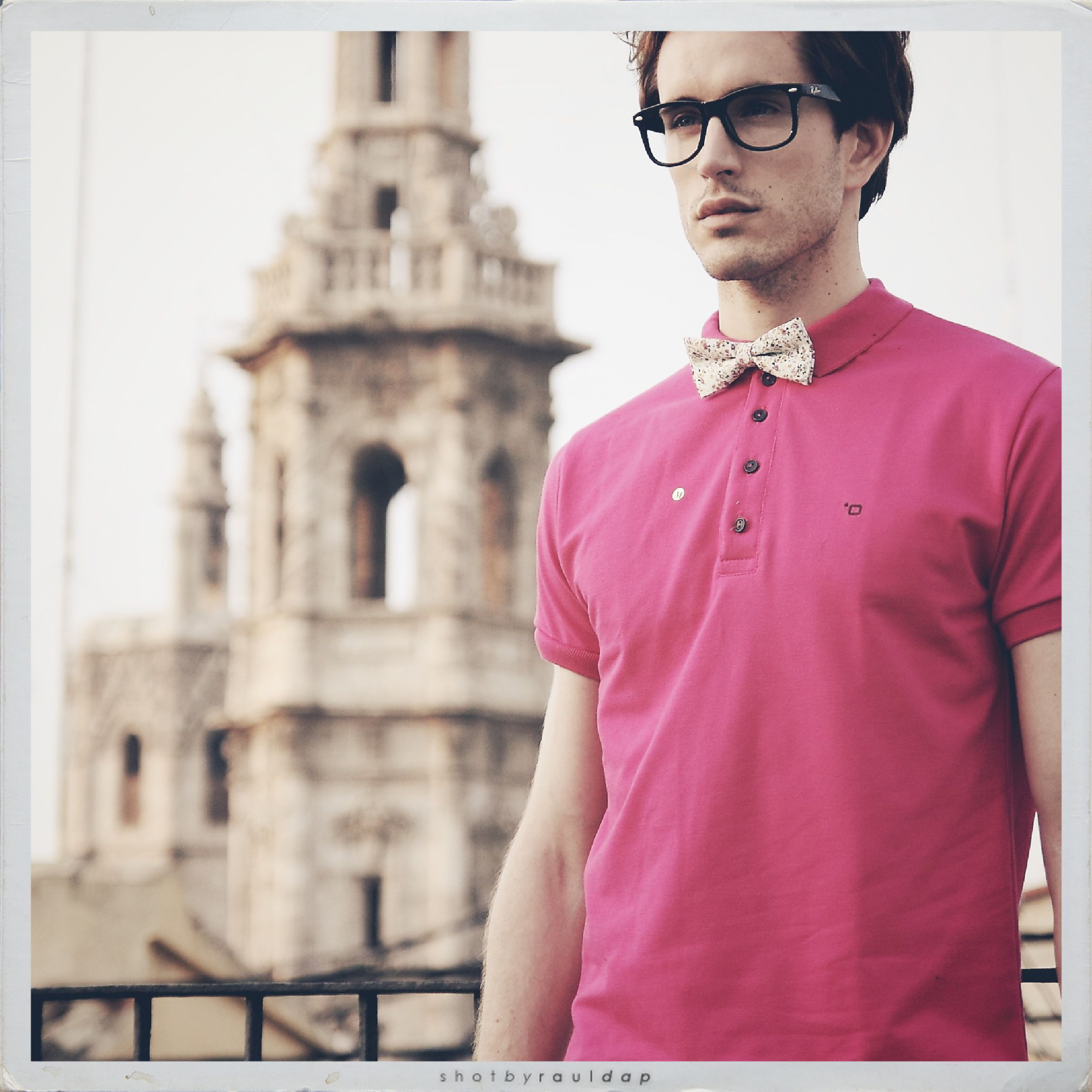 2e55a1fa pink polo shirt and bowtie by Zambrano Summertime collection | Bow ...