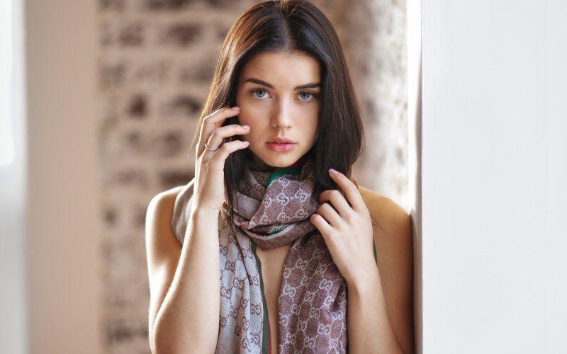 Woman, woman model, pretty, stare, brunette wallpaper