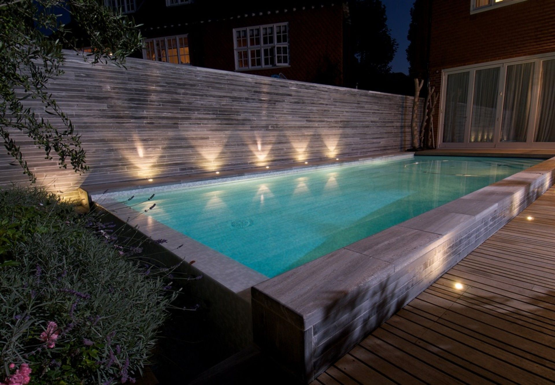 Amazing Outdoor Recessed Lighting Around Pool Design | Swimming Pool Designs  | Pinterest | Pool Designs, Swimming Pools And House Projects