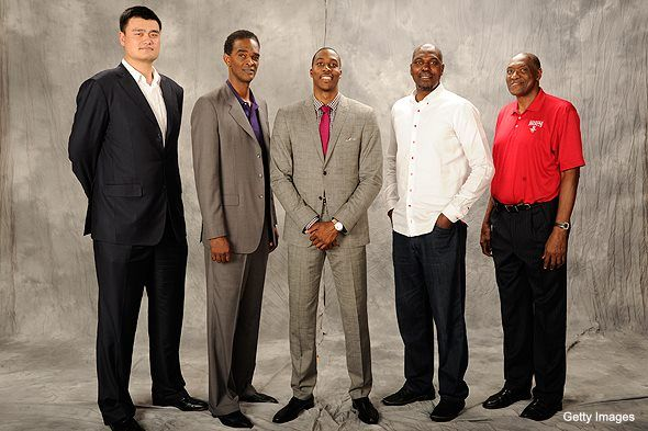 Dwight Howard With The Best Centers In Rockets History Dwight Howard Team Usa Basketball Houston Rockets