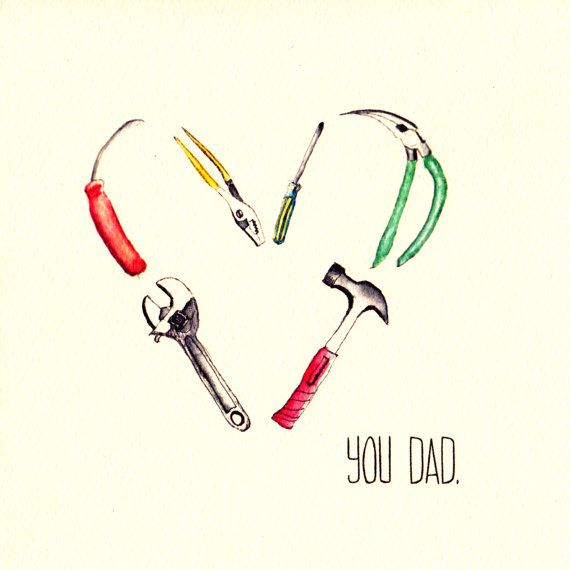 """How adorable is this """"Heart You Dad"""" card via @Etsy? #paypalit"""
