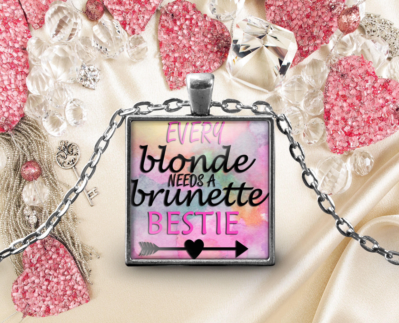 Best Friend Pendant Necklace Word Print Birthday Anniversary Wedding Present Keepsake Friendship Gifts For Mom Daughter Bestie By