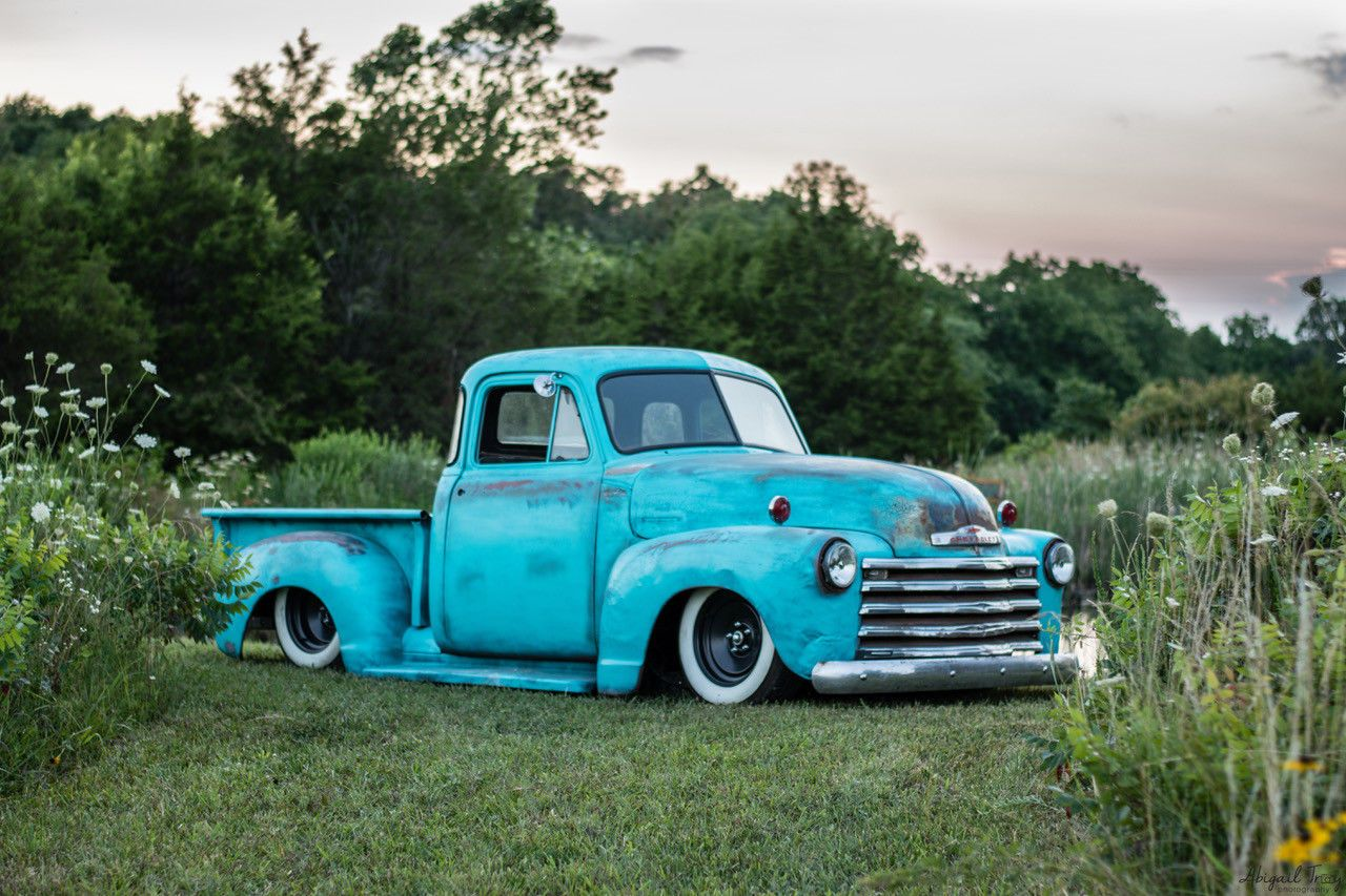 1952 3100 Chevy 5 Window Ls Air Ride Bagged Patina Shop Truck Rat