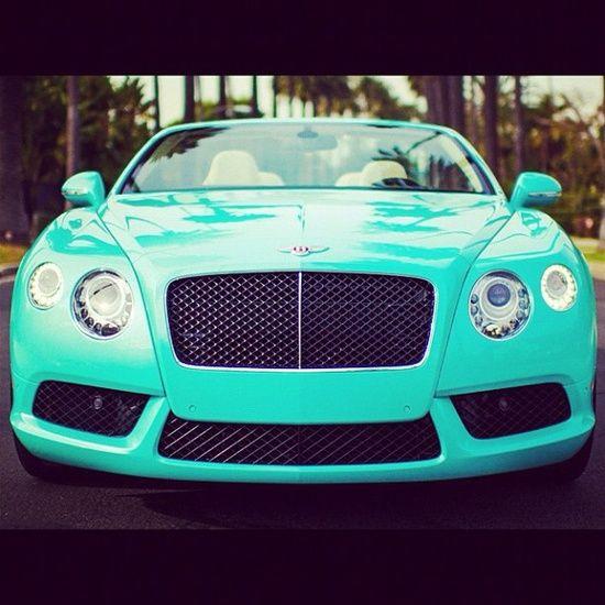 Tiffany Blue Bentley #celebritys Sport Cars #customized