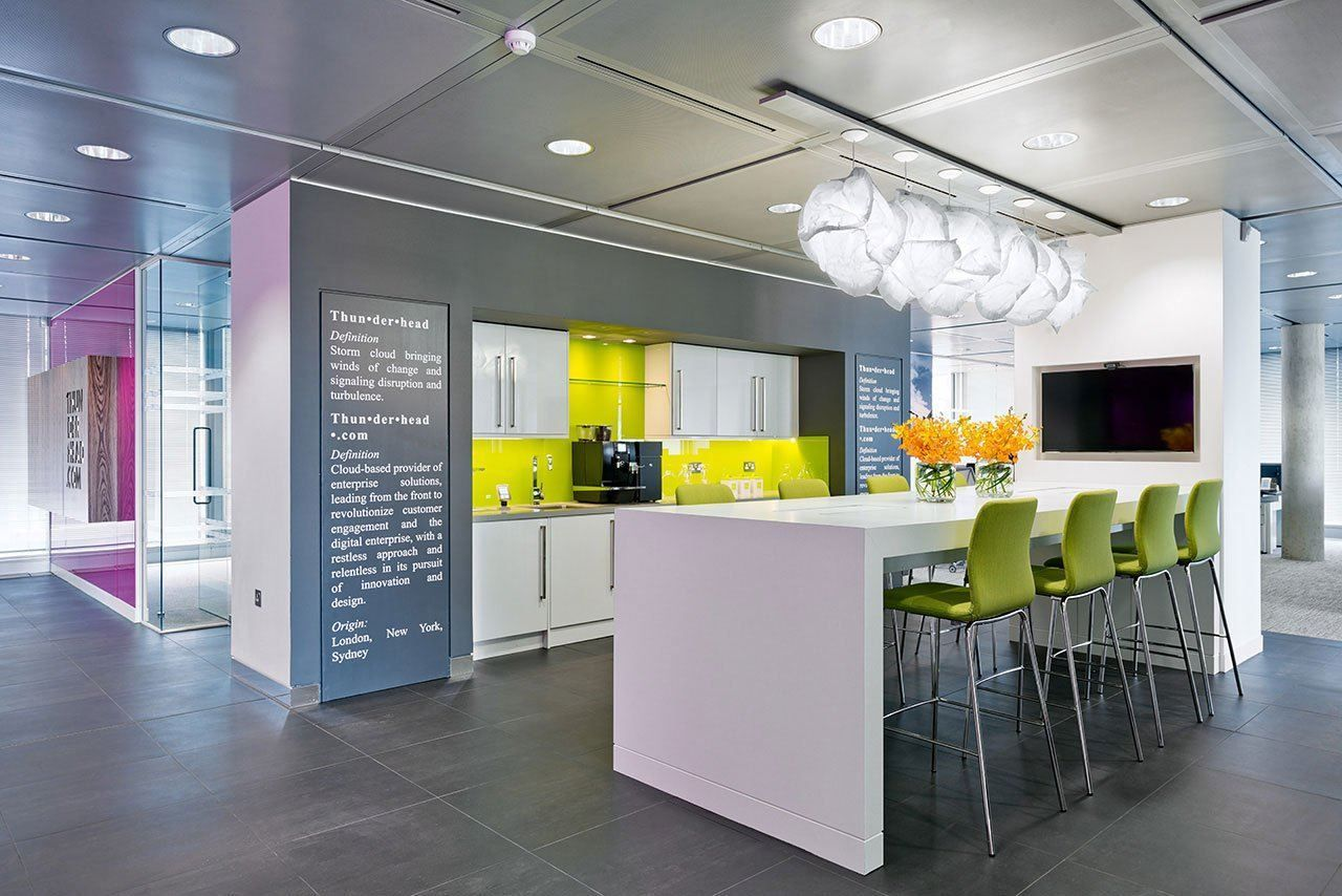 A Look Inside Thunderhead S Stylish London Headquarters Office Designs Pantry And Office Spaces