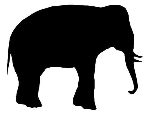 Siluetas Animales En Negro, Vectores