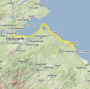 John Muir Way Map Walk the John Muir Way in Scotland
