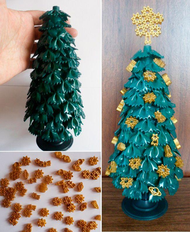 сайте новогодние елки из макарон фото изначально должна