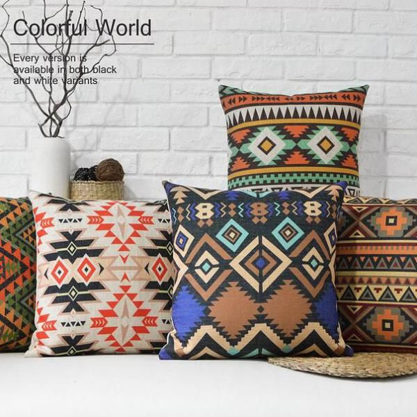 patchwork indian handloom bohemian in pillow ethnic products set for gypsy jaipur pillows throw vintage decorative grande couch blue