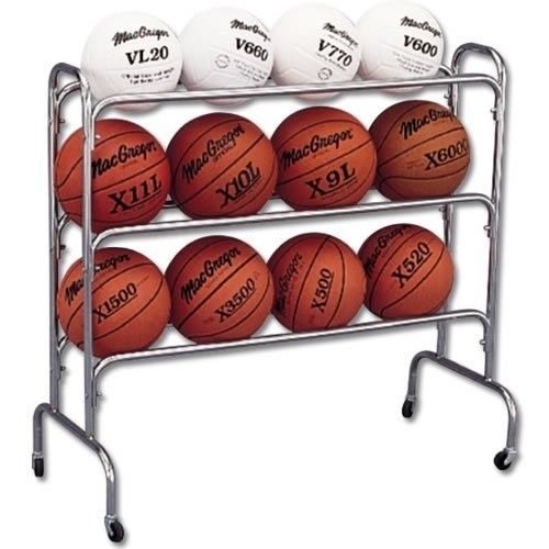 Basketball Volleyball Rack Holder Storage Pe Gym Wide Sport Wheels Shelves Cart Ball Storage Basketball Basketball Equipment