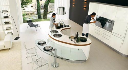 Compact Rounded Kitchen 1 For Small Modern Kitchen Design Idea New Best Design Kitchen Decorating Design