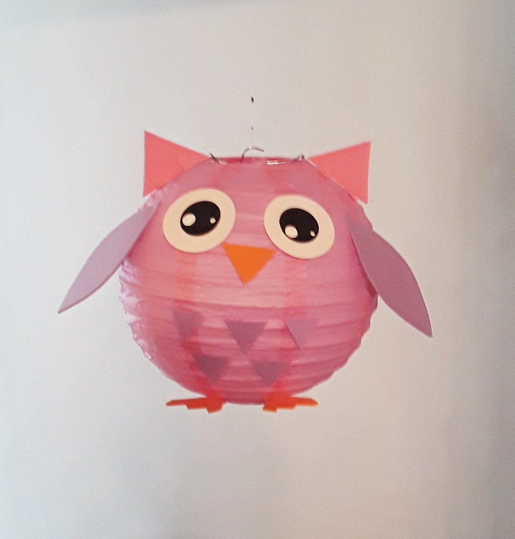 Pink Owl Paper Lantern Party