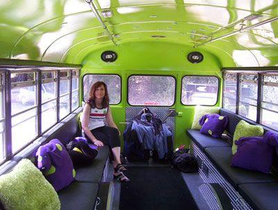 Short School Bus Interior