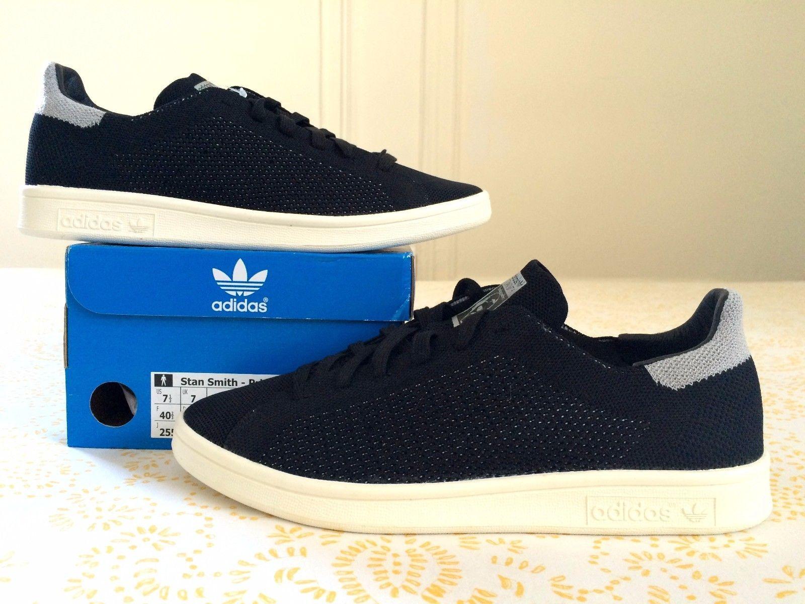 adidas 7 5. adidas stan smith primeknit black reflective men\u0027s sizes 7 5 10 us pk | ebay a