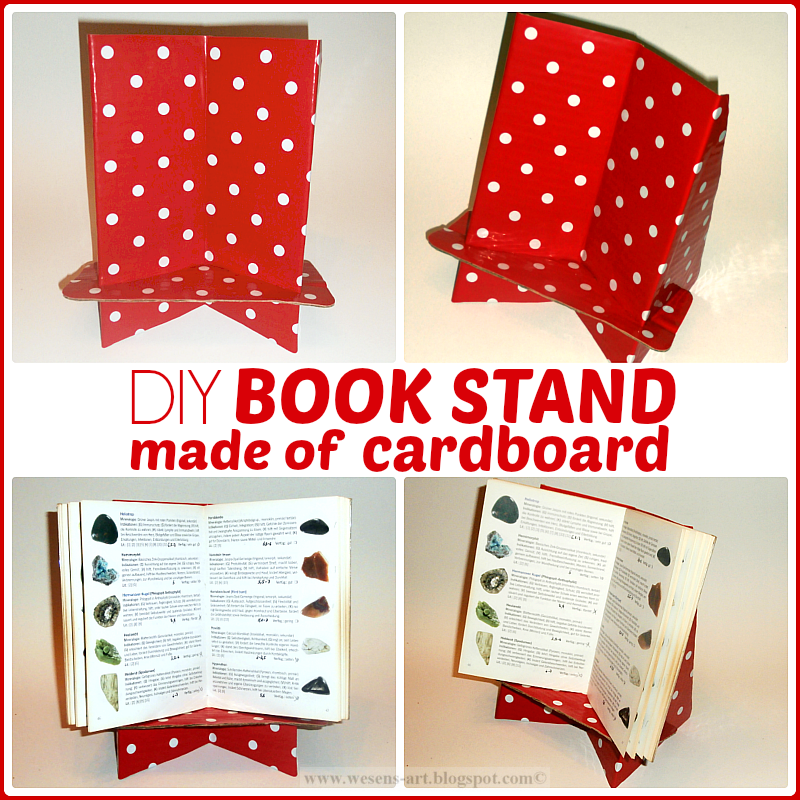 diy book stand made of cardboard buchst nder home