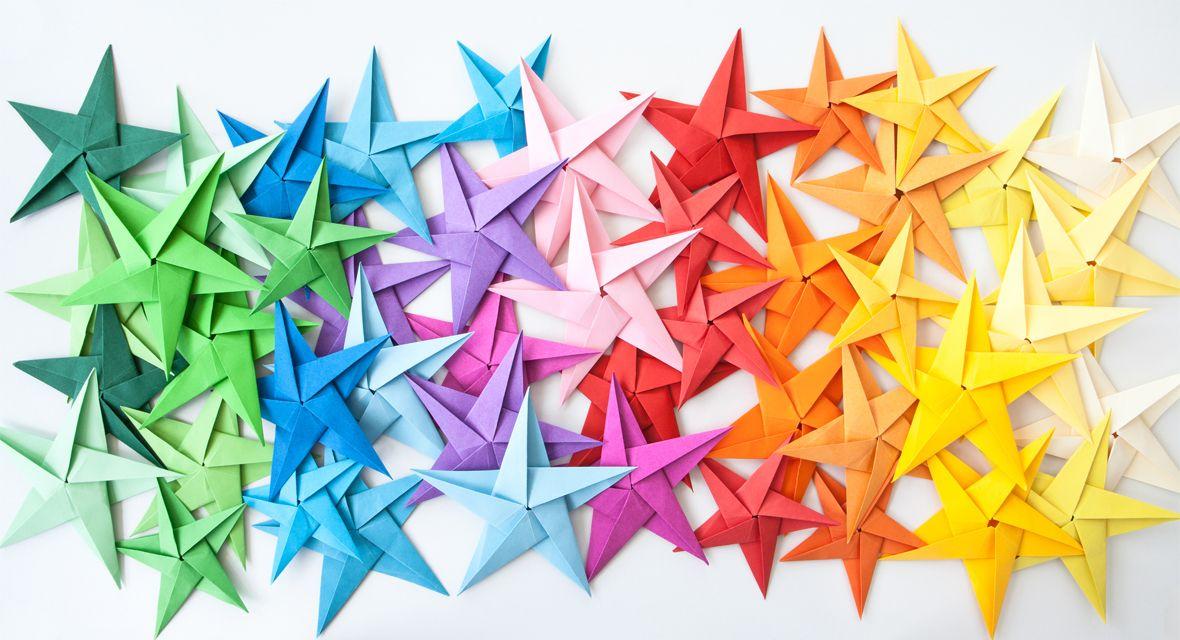 Anleitungen, mit denen ihr schöne Sterne basteln könnt