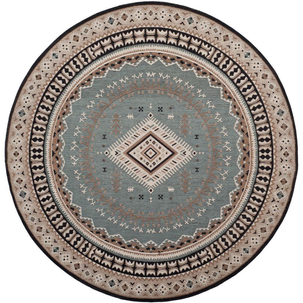 Safavieh Classic Vintage Slate Beige 6 Ft X 6 Ft Round Area Rug