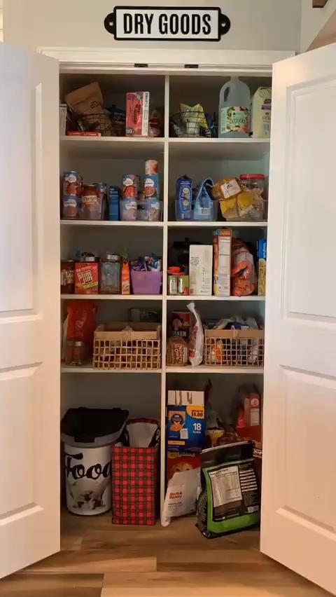 DIY home storage kitchen pantry