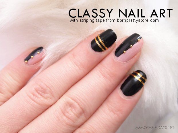 Classy nail art tutorial striping tape from bornprettystore classy nail art tutorial striping tape from bornprettystore memorable days beauty blog prinsesfo Gallery