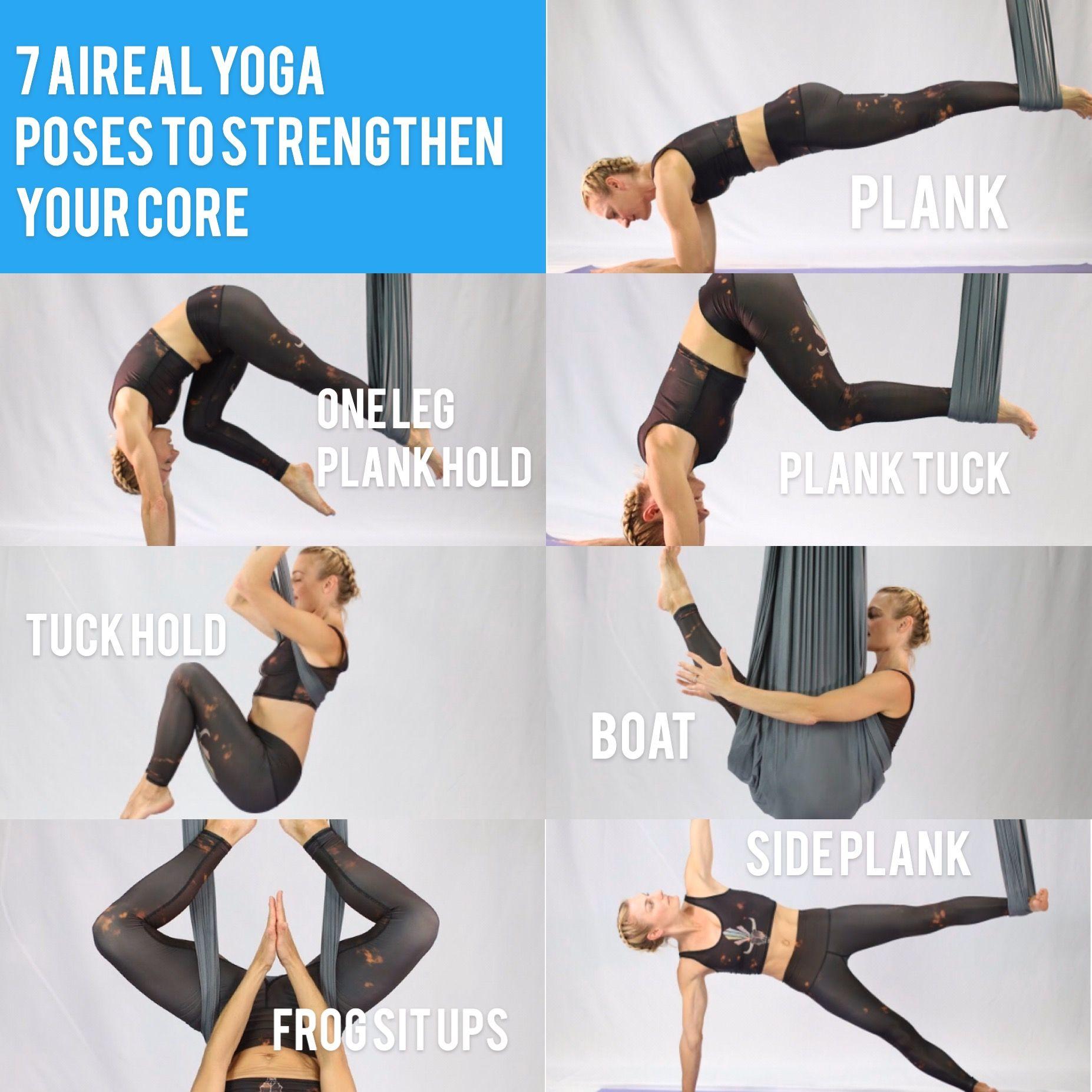 Aerial Yoga Core   Aerial yoga poses, Aerial yoga, Yoga trapeze ...