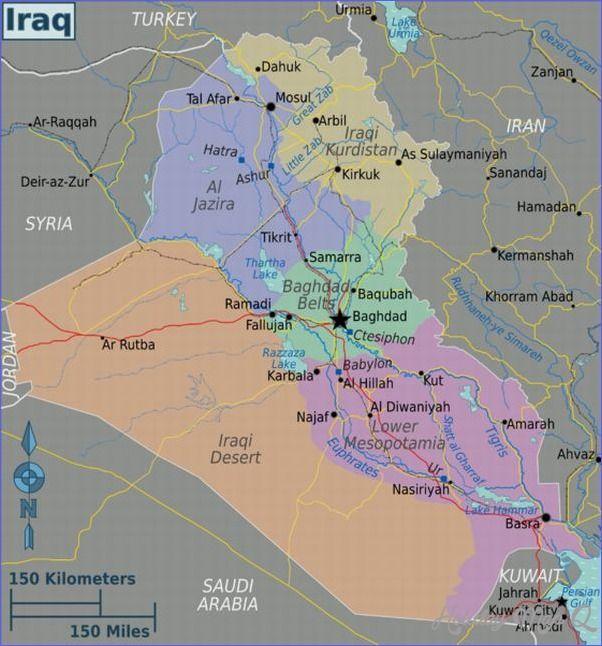 Iraq Map Tourist Attractions httpholidaymapqcomiraqmap