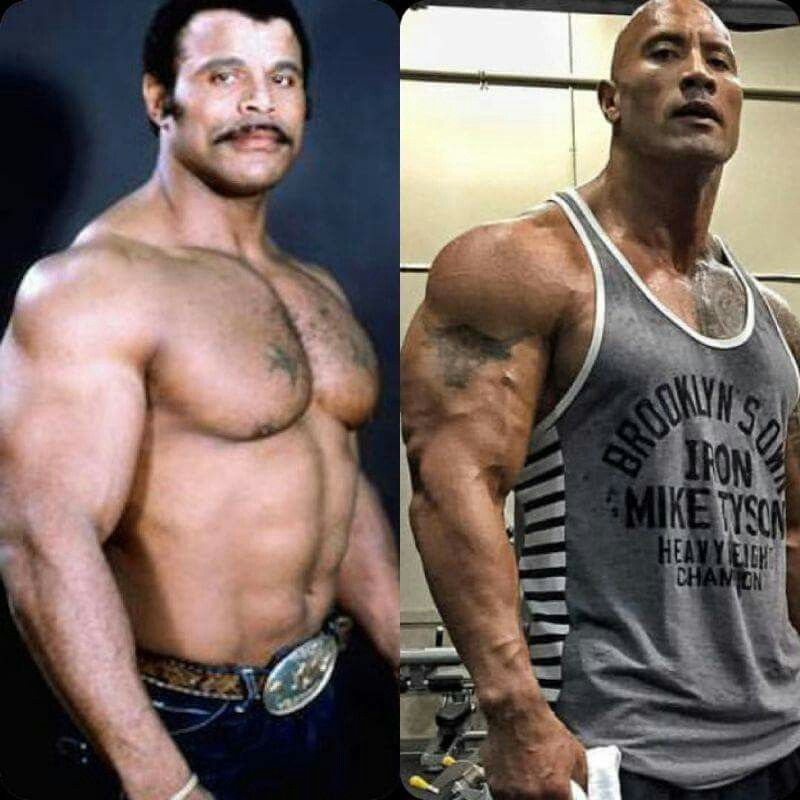 Dwayne And His Dad The Rock Dwayne Johnson Dwayne Johnson