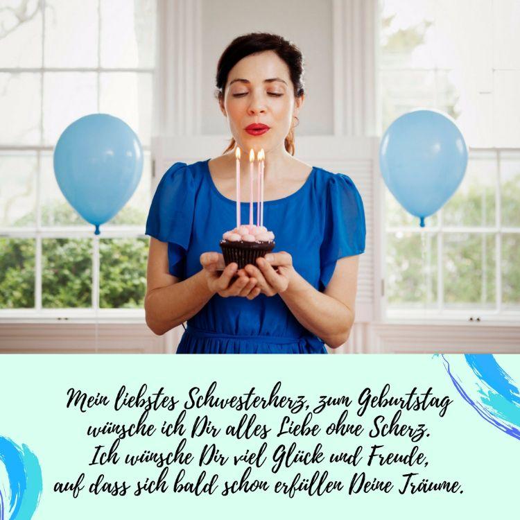 Geburtstagsspruch Für Die Beste Schwester