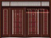 Wood grain 4 doors edis 134 wood- Cửa thép vân gỗ 4 cánh edi…