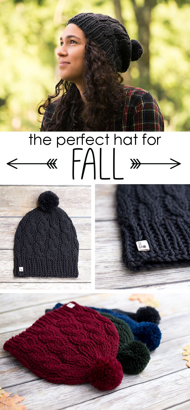 Love this cable knit hat! Slouchy, squishy, and made with 100% wool ...