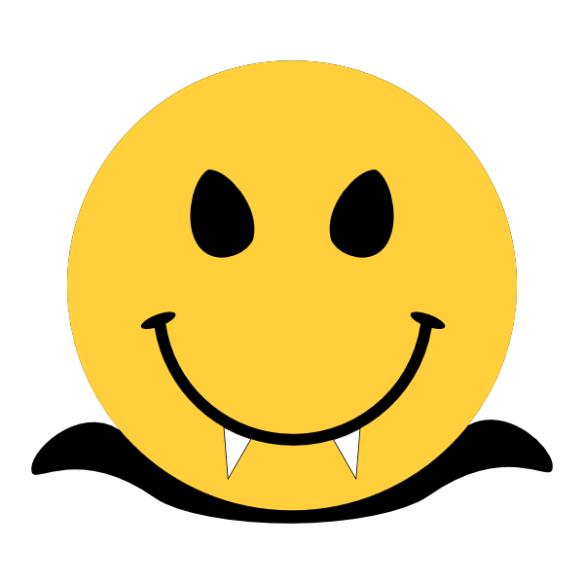 HALLOWEEN SMILEY VAMPIRE CLIP ART