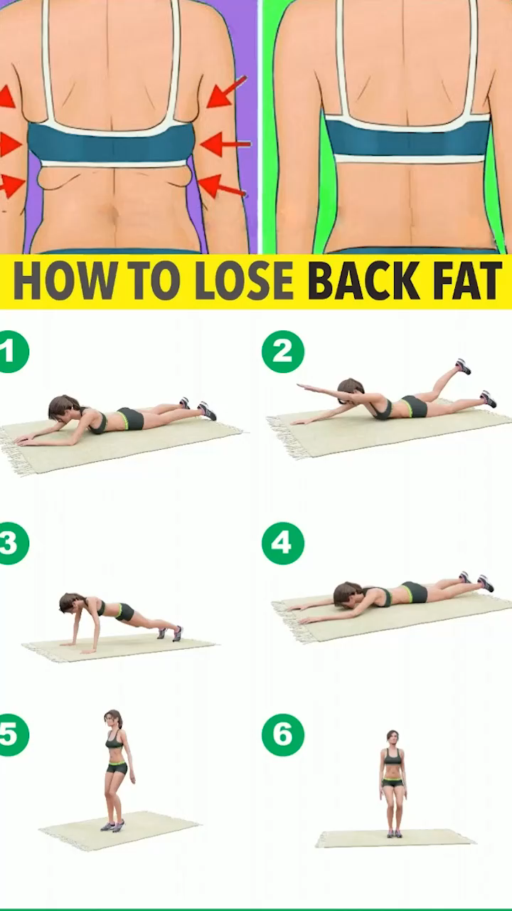 The best tips to lose back fat! Ejercicios 2