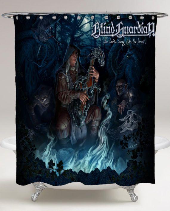 Heavy Metal Rock Music Band Unique Curtain Music Wallpaper