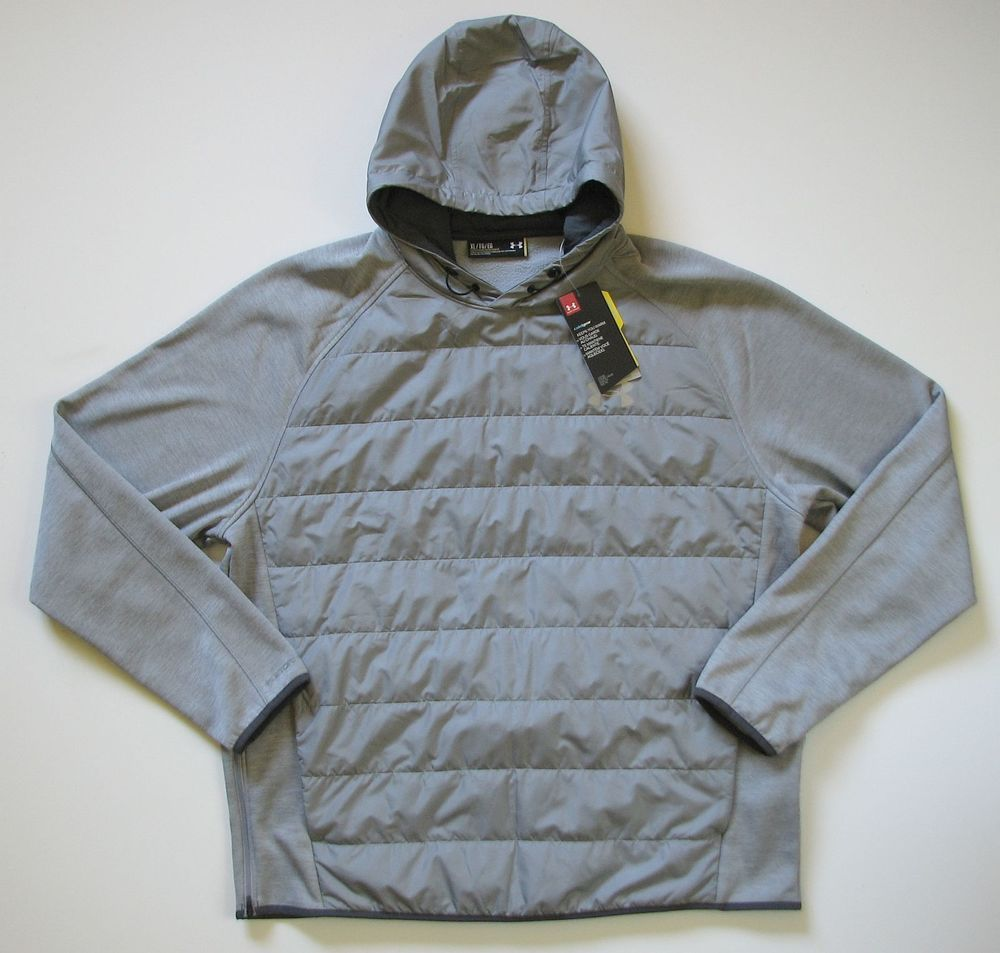 UNDER ARMOUR MENS XL STORM INSULATED SWACKET HOODIE GRAY NEW  Underarmour   BasicJacket 36cf99819