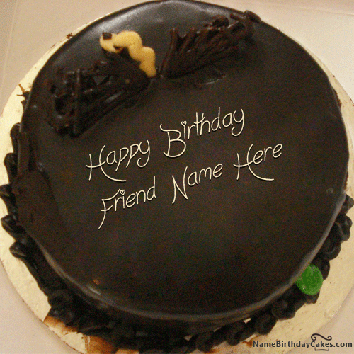 Images Of Chocolate Cake With Name : Write Name On Unique Chocolate Cake For Friends arpita ...