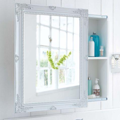 Spiegelschrank Schiebetur Zwei Innenfacher Romantik Look Mdf