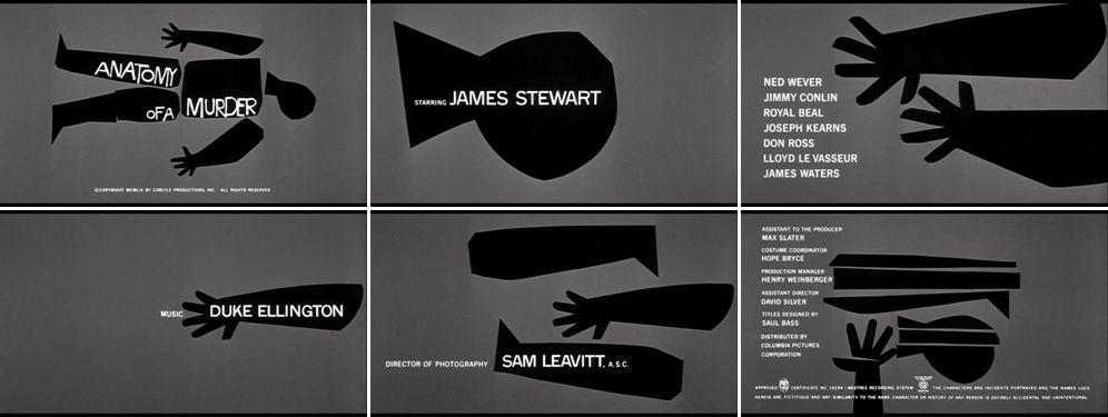 Anatomy Of A Murder Title Sequence Saul Bass Pinterest Saul