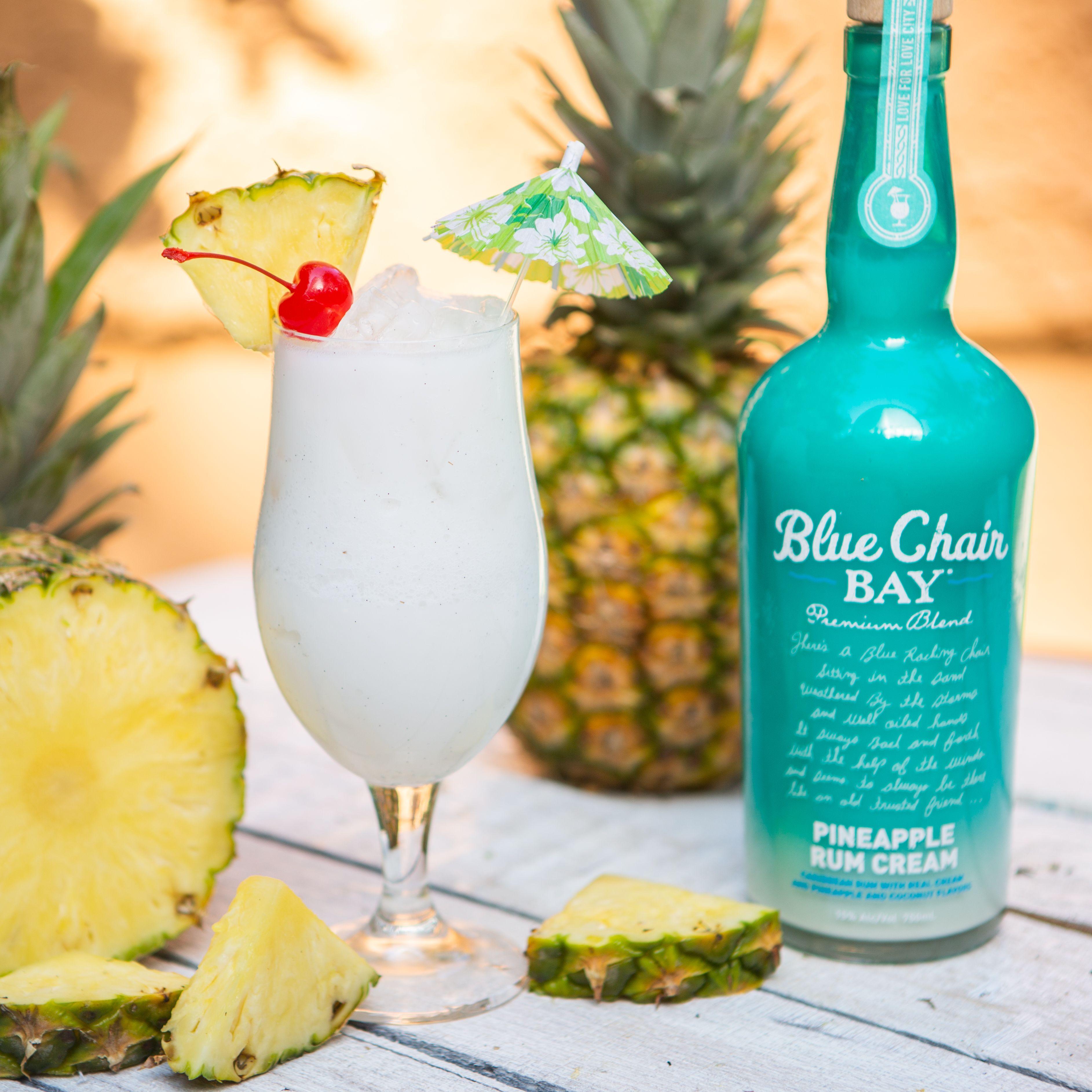 2 oz. Blue Chair Bay® Pineapple Rum Cream 1 oz. Blue