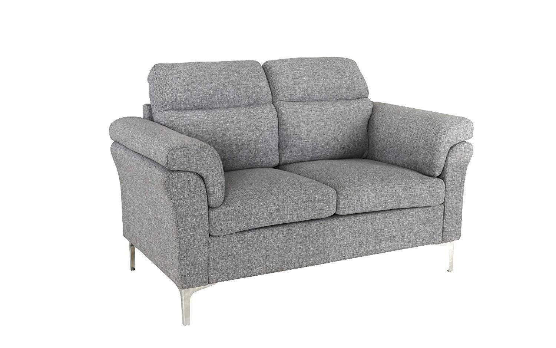 229 99 Modern Living Room Linen Fabric Loveseat Sofa 2 Seater
