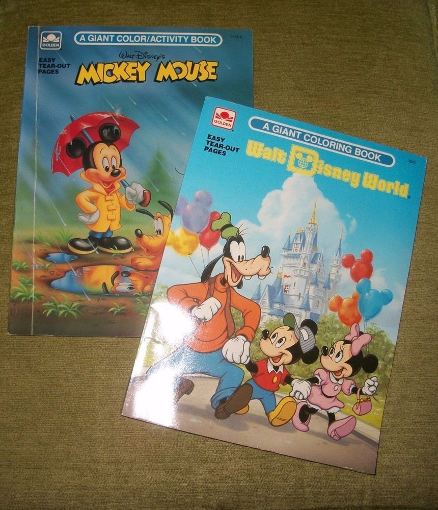Vtg Walt Disney S Mickey Mouse Giant Coloring Book Activity Book