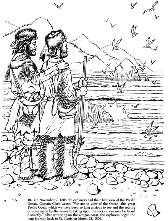 Lewis and Clark Expedition Coloring Book Coloring sheets