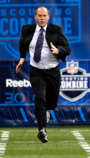 How fast are you??  Rich Eisen from the NFL network get's people out of their seat and running the 40 yard dash in their work clothes!!  Click the picture to see some of the hilarious videos